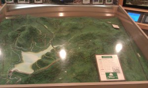 Radnor Lake - overview map display at the Visitor's Center