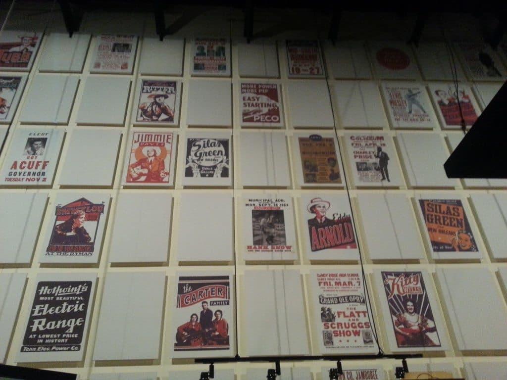 Country Music Hall of Fame wall display