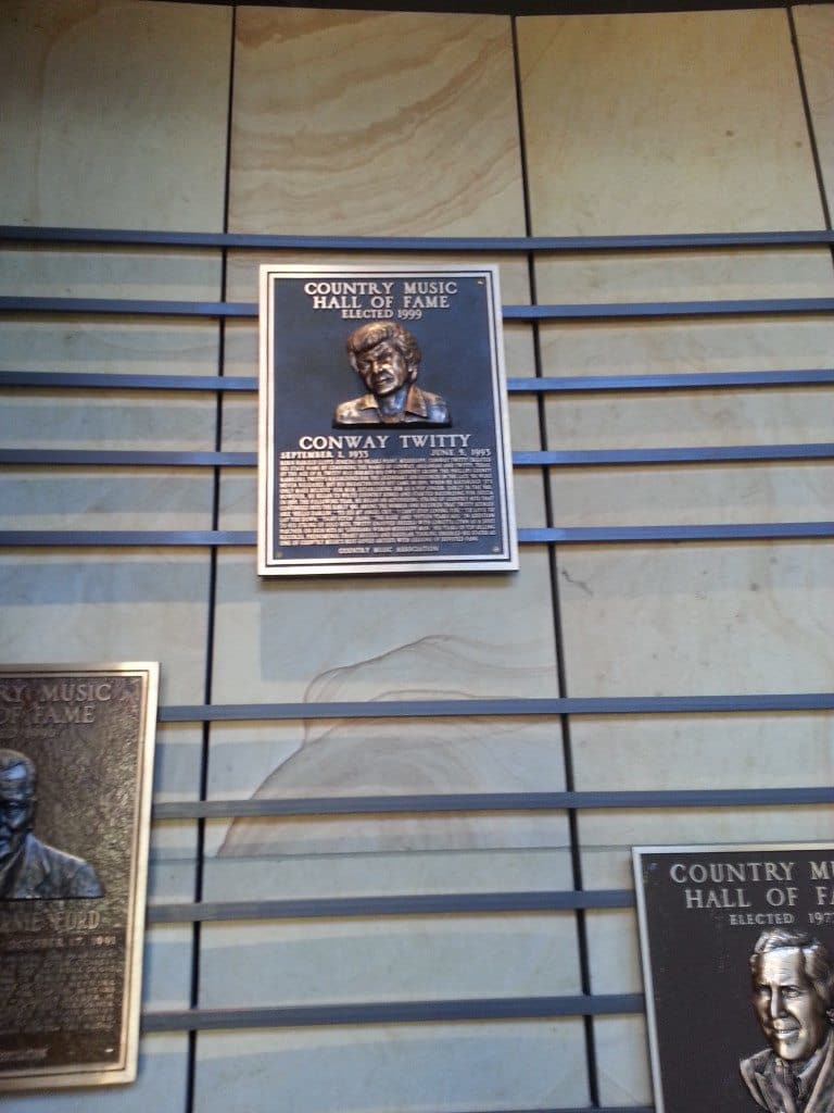 Country Music Hall of Fame inductee plaque display wall