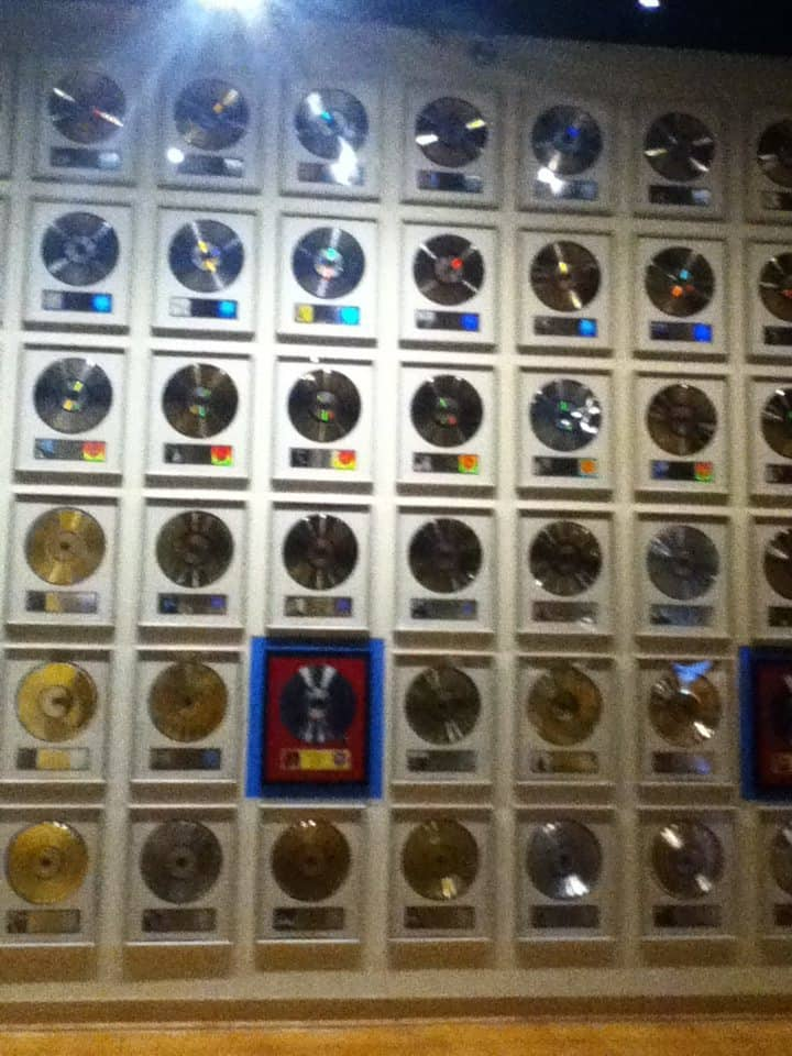 Country Music Hall of Fame record display wall