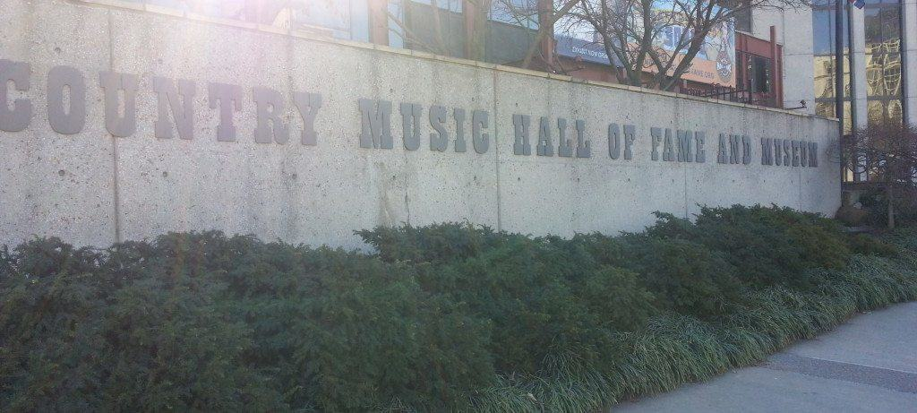 Country Music Hall of Fame entrance sign