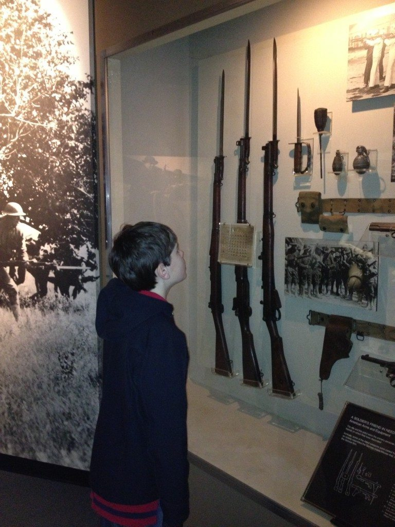 Investigating weapons and supplies from World War 1 at the Tennessee State Military Museum