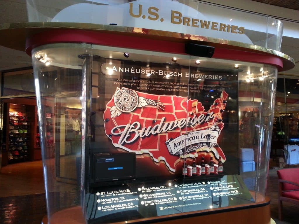 Budweiser Brewery Tour, St. Louis, MO - Map of Budweiser
