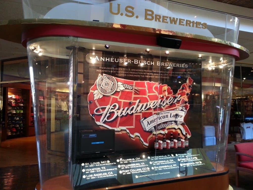 Budweiser Brewery Tour, St. Louis, MO - Map of Budweiser