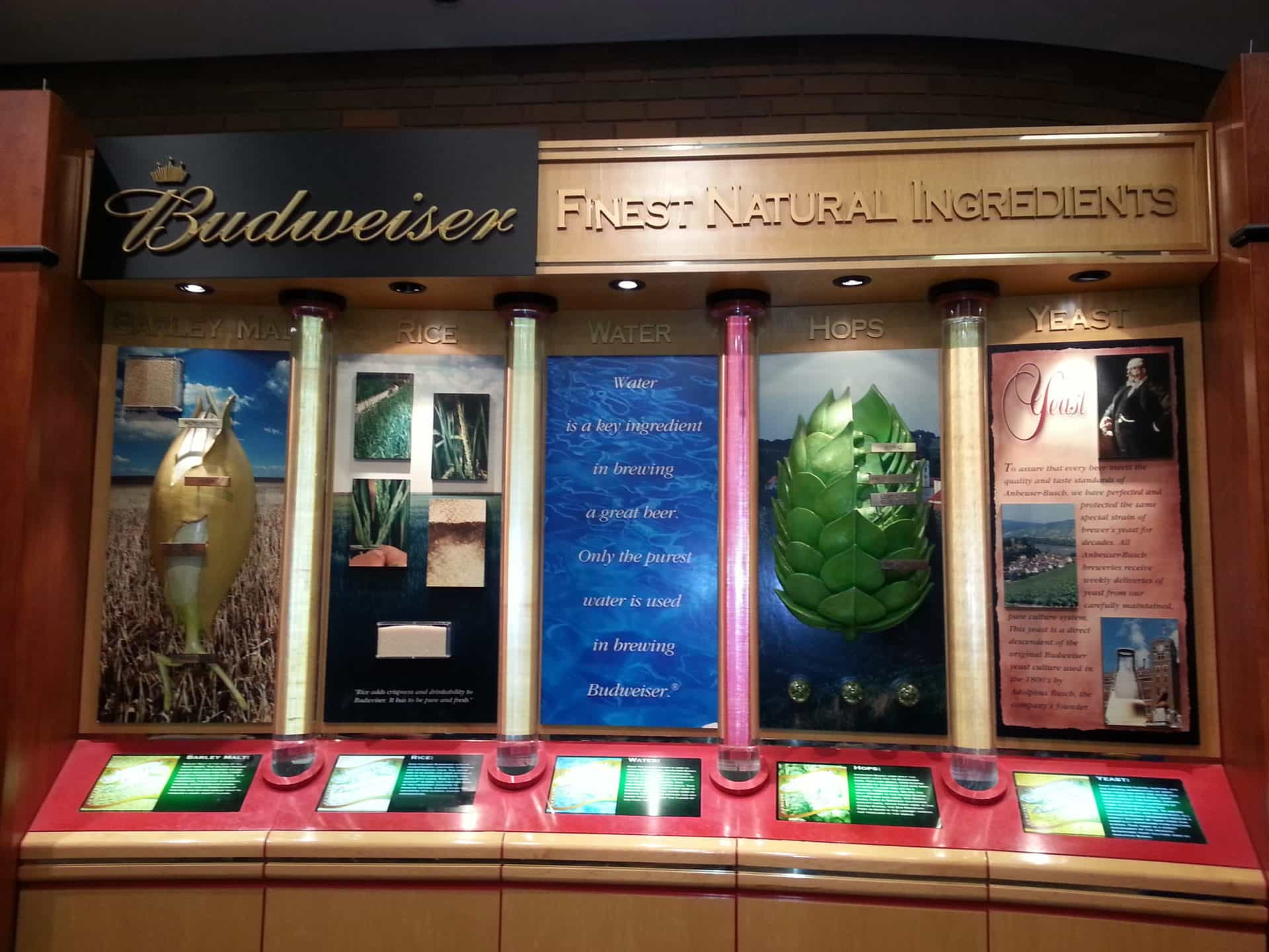 Budweiser Brewery Tour, St. Louis, MO - Displays of history