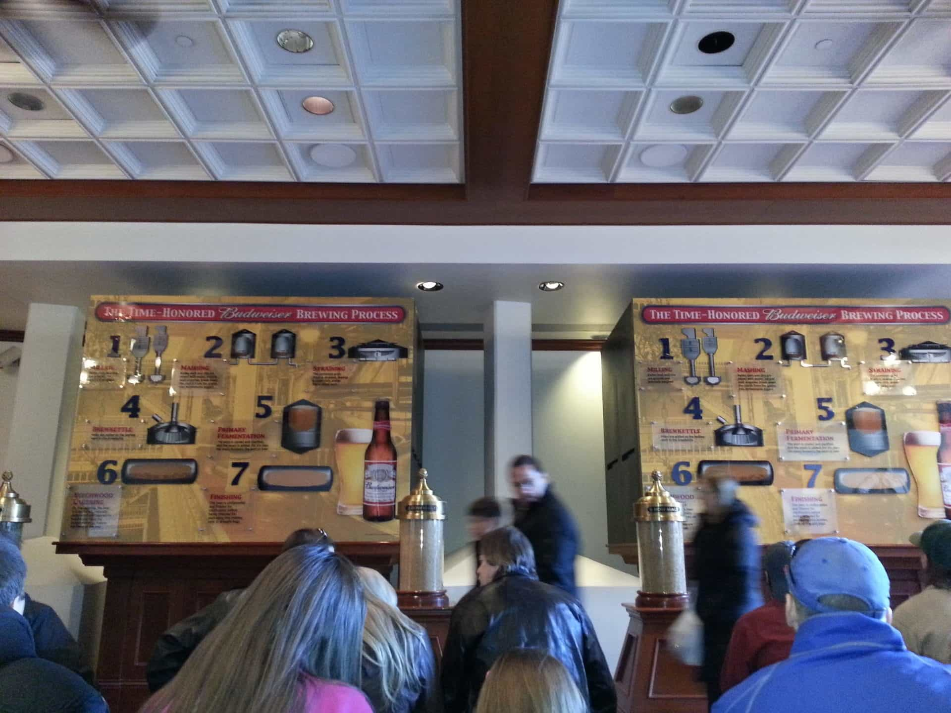 Budweiser Brewery Tour, St. Louis, MO - Tasting Room
