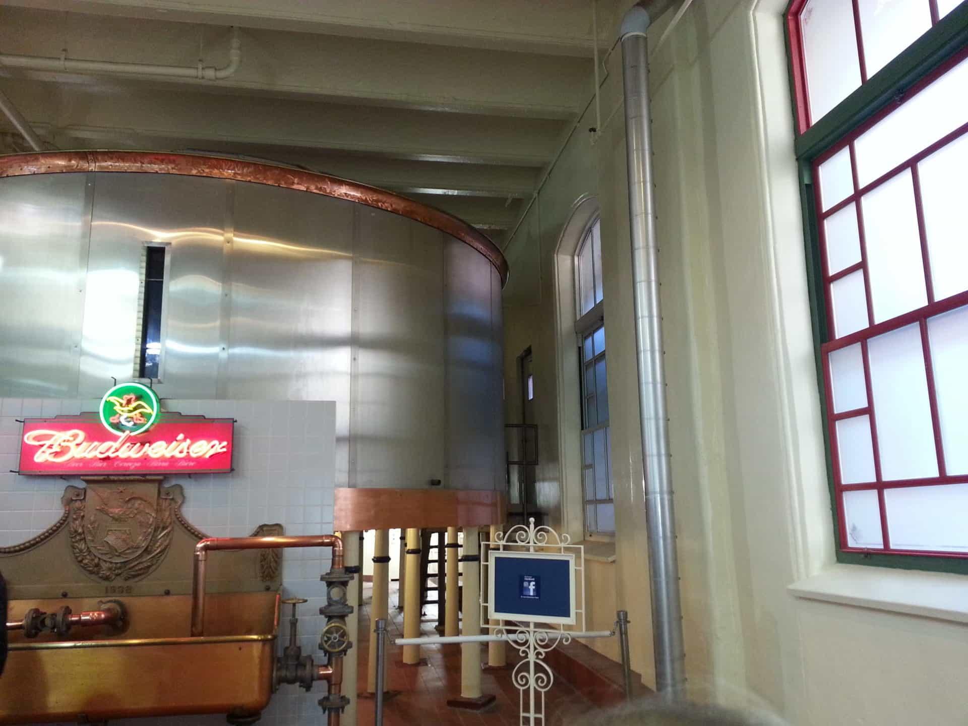 Budweiser Brewery Tour, St. Louis, MO - Beer vats