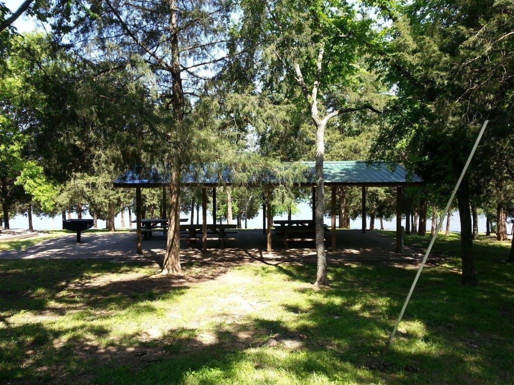 Shutes Branch Recreation Area pavilion