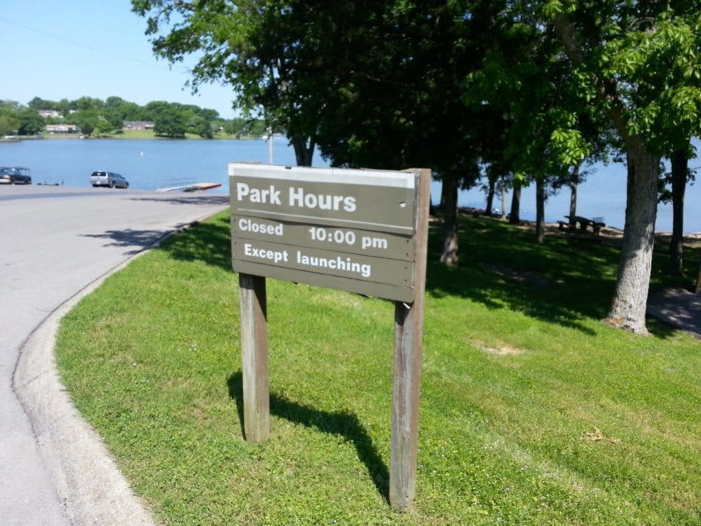 Shutes Branch Recreation Area park hours