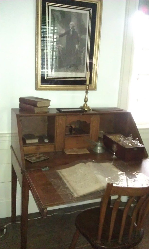 vintage desk inside of Travellers Rest Plantation and Museum