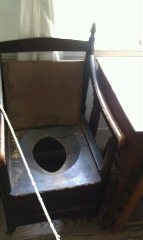 Travellers Rest Plantation and Museum antique toilet chair