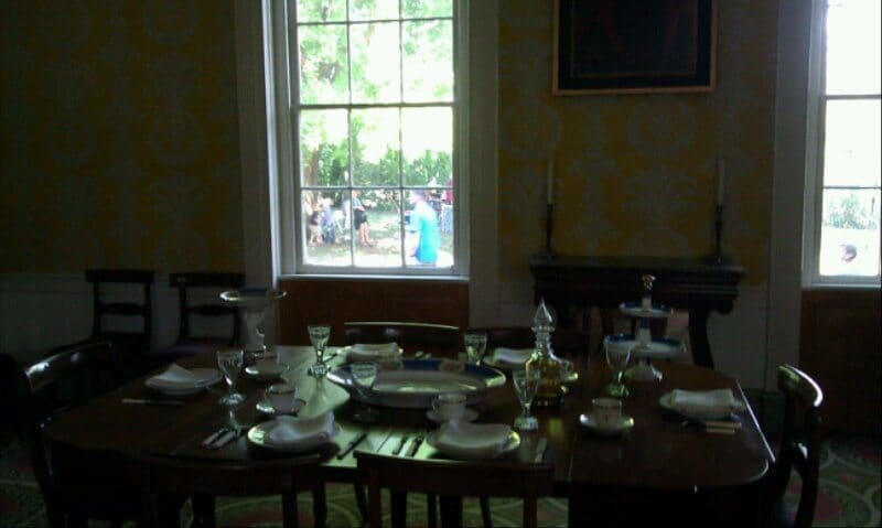 Travellers Rest Plantation and Museum interior dining table
