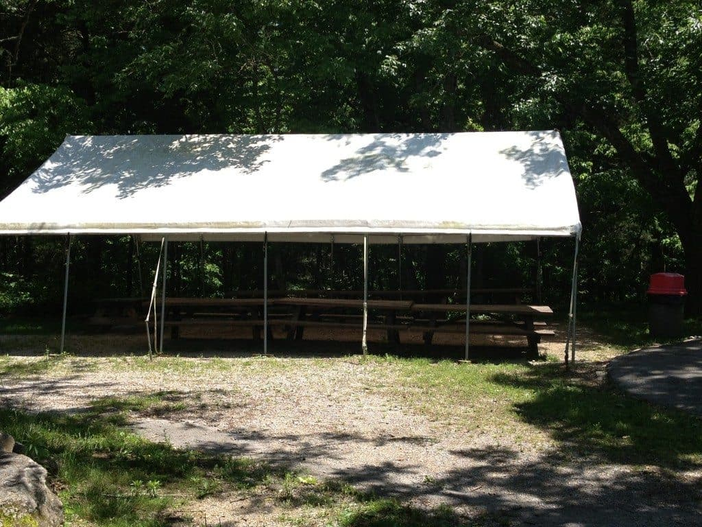 Picnic shelter at Kentucky Down Under