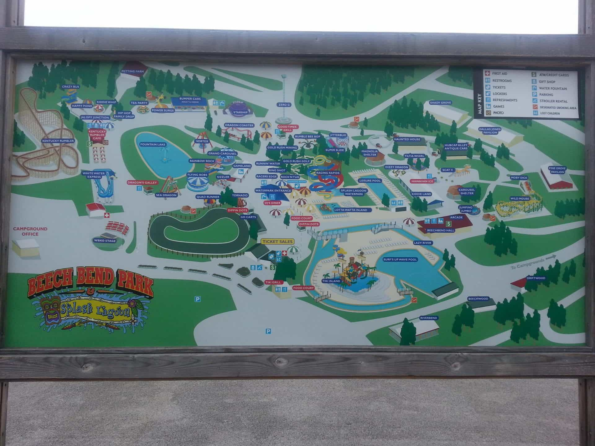 Beech Bend Park and Splash Lagoon - Map