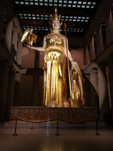The Parthenon Athena statue