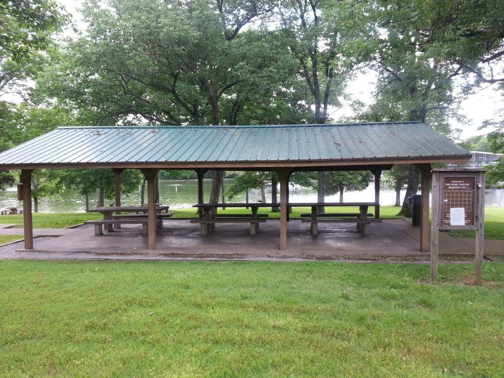 Rockland Recreation Area - Side view of the Picnic Shelter