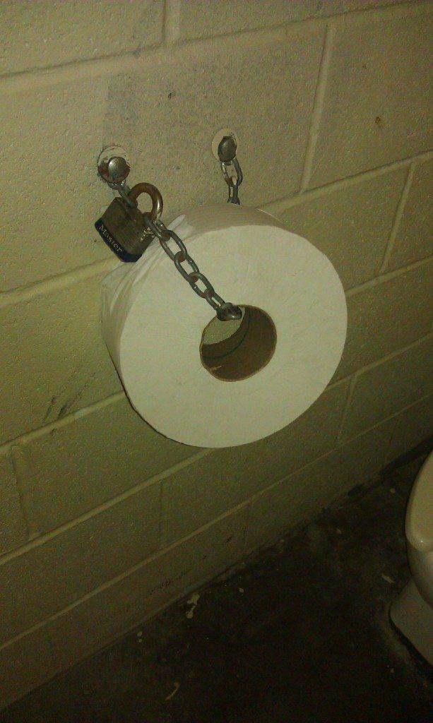 Centennial Park Nashville - Chained toilet paper