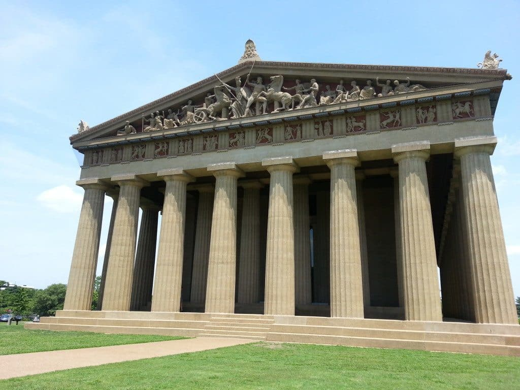 The Parthenon exterior