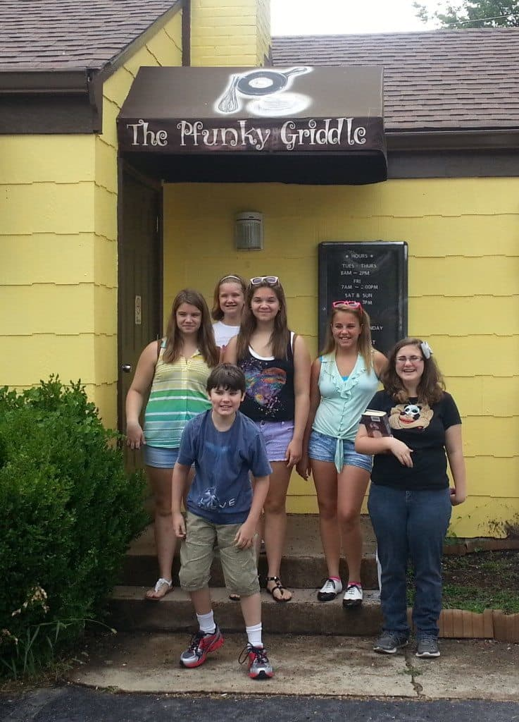 The gang at Pfunky Griddle