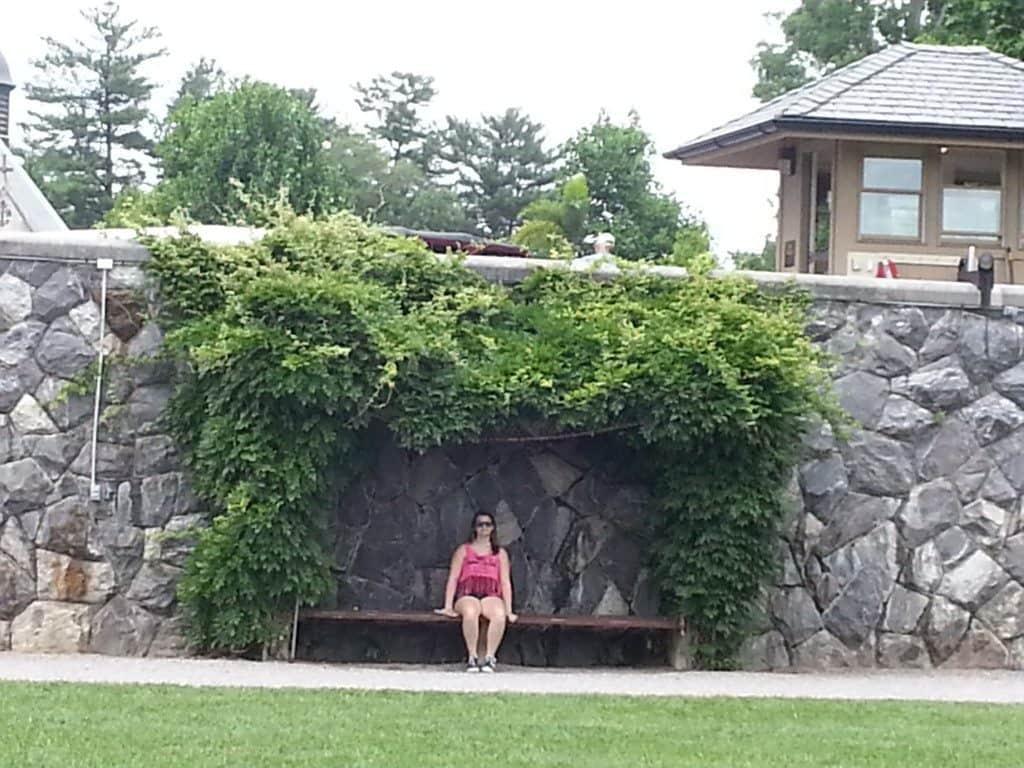 Enjoying the shade in the Biltmore gardens