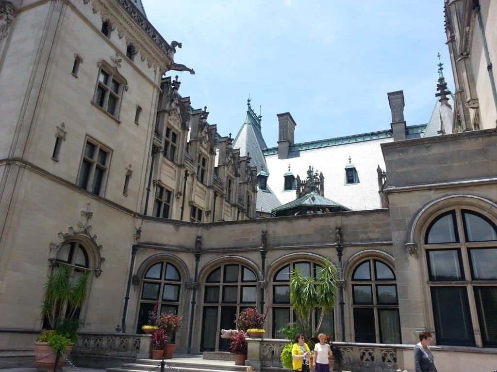 Outside courtyard of the Biltmore