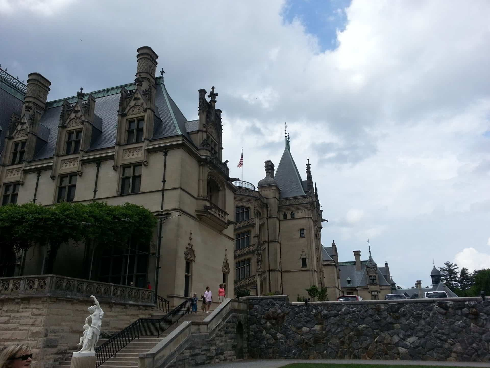 View of the Biltmore from the gardens