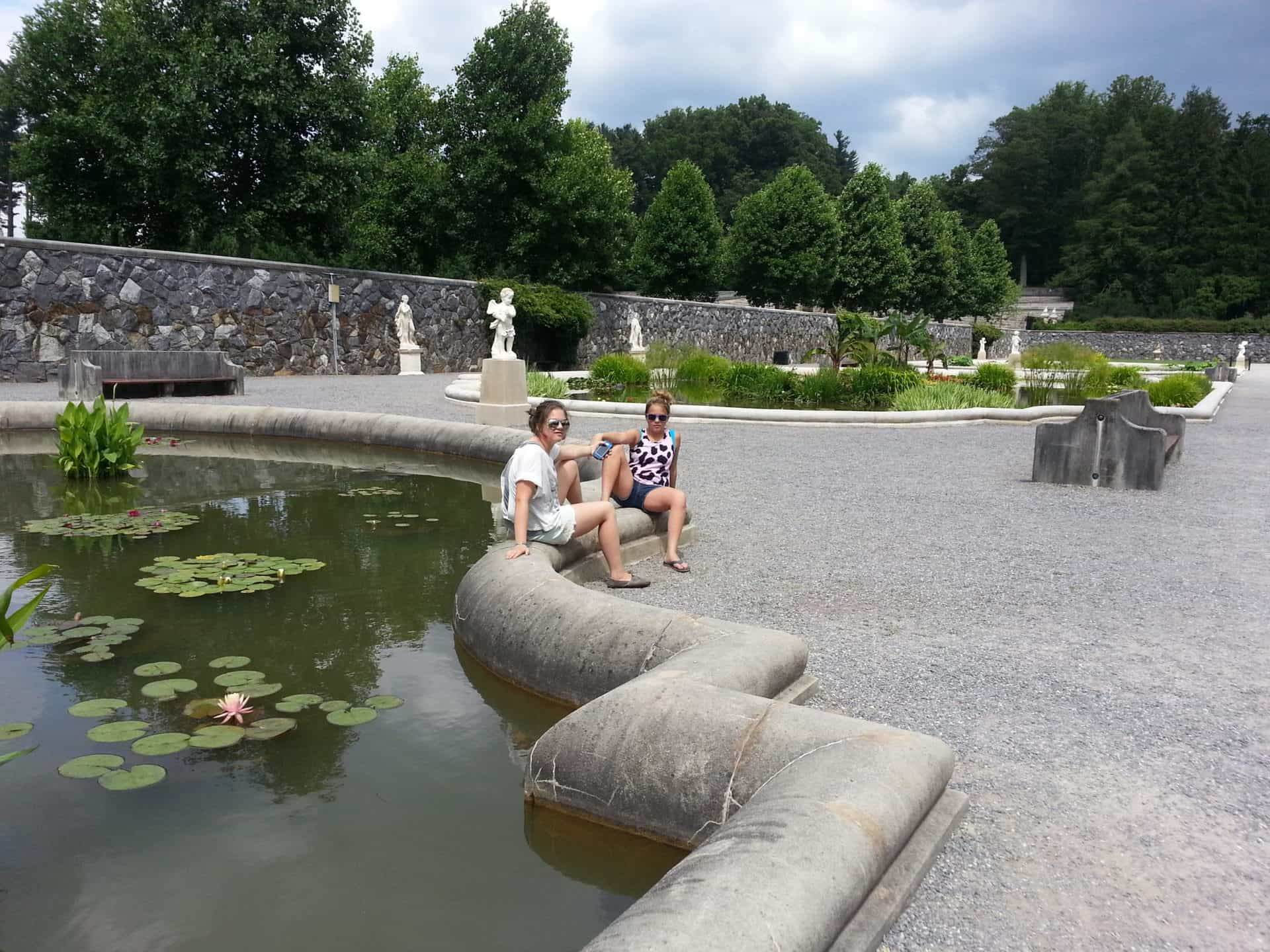 Fish ponds in the Biltmore's gardens