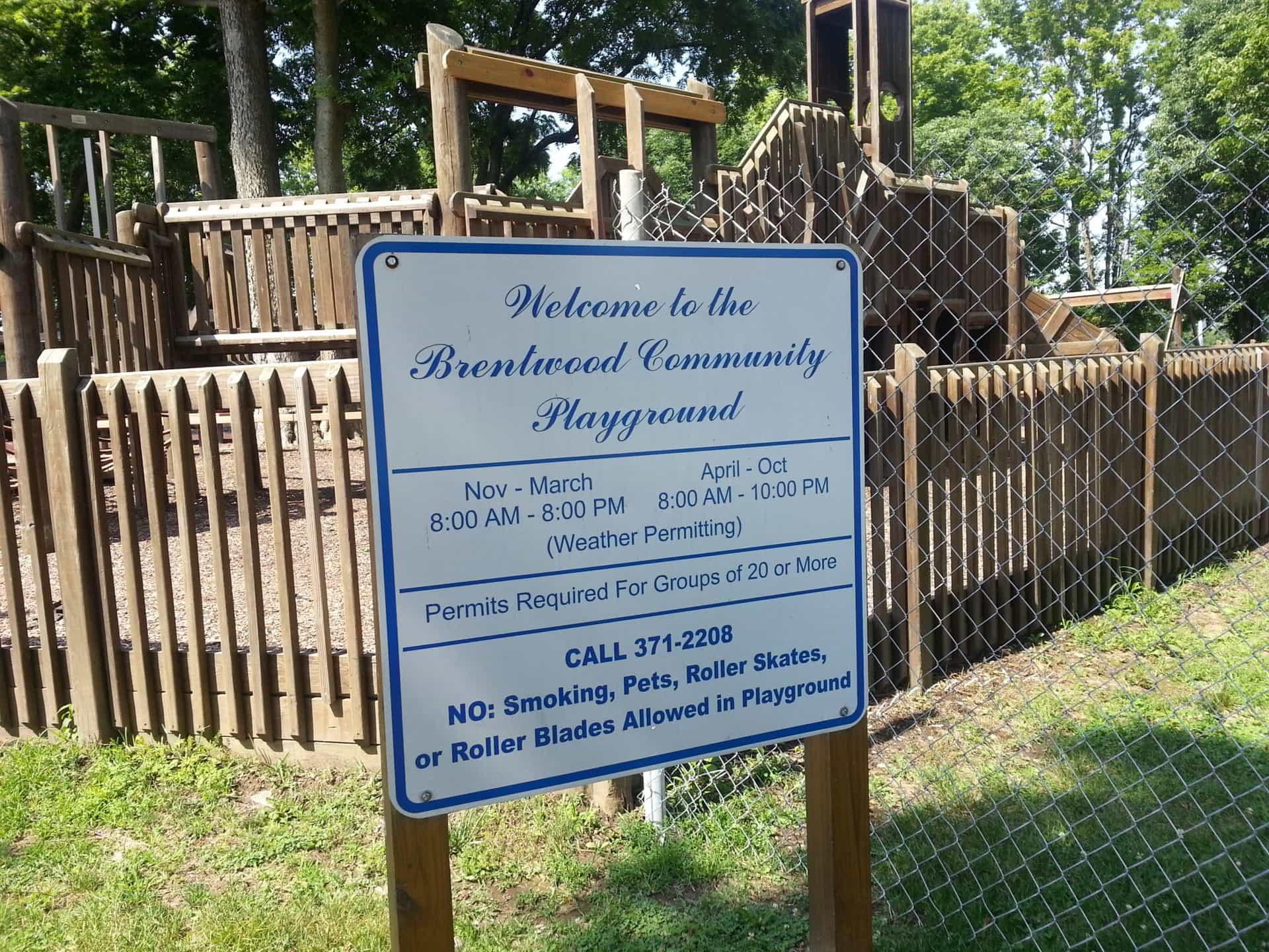 Crockett Park playground sign