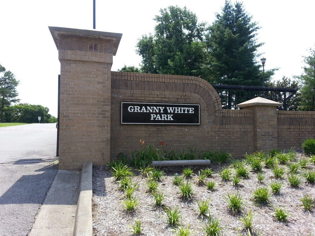 Granny White Park entrance sign