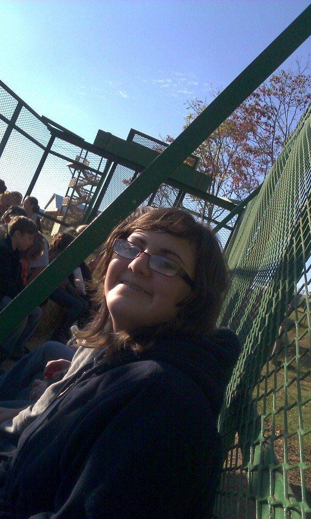 girl on Honeysuckle Hill Farm hayride