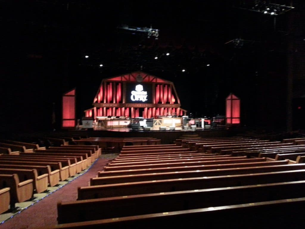 Grand Ole Opry Backstage Tour auditorium seating
