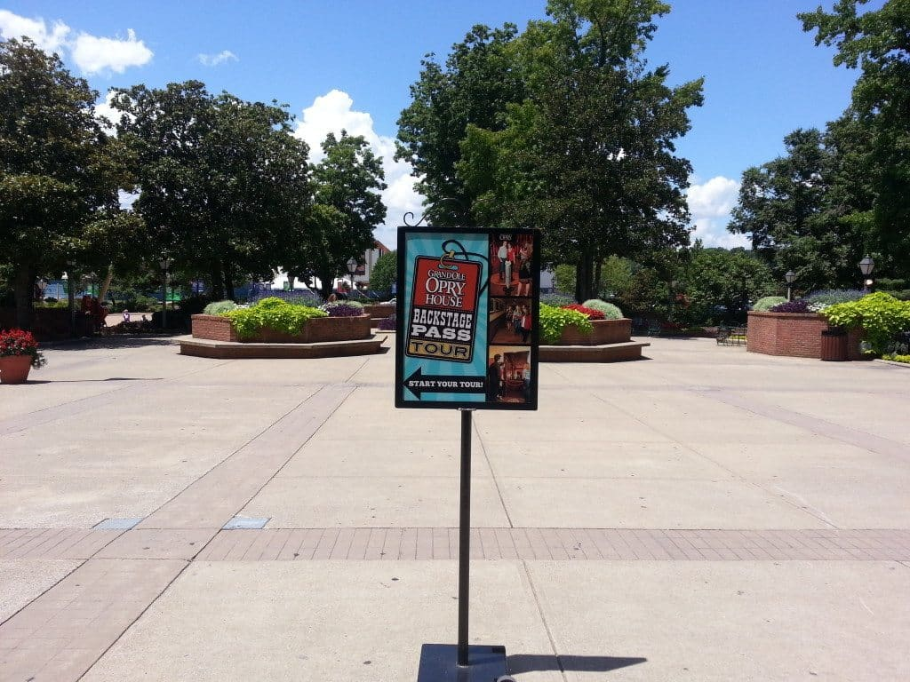 Grand Ole Opry Backstage Tour sign