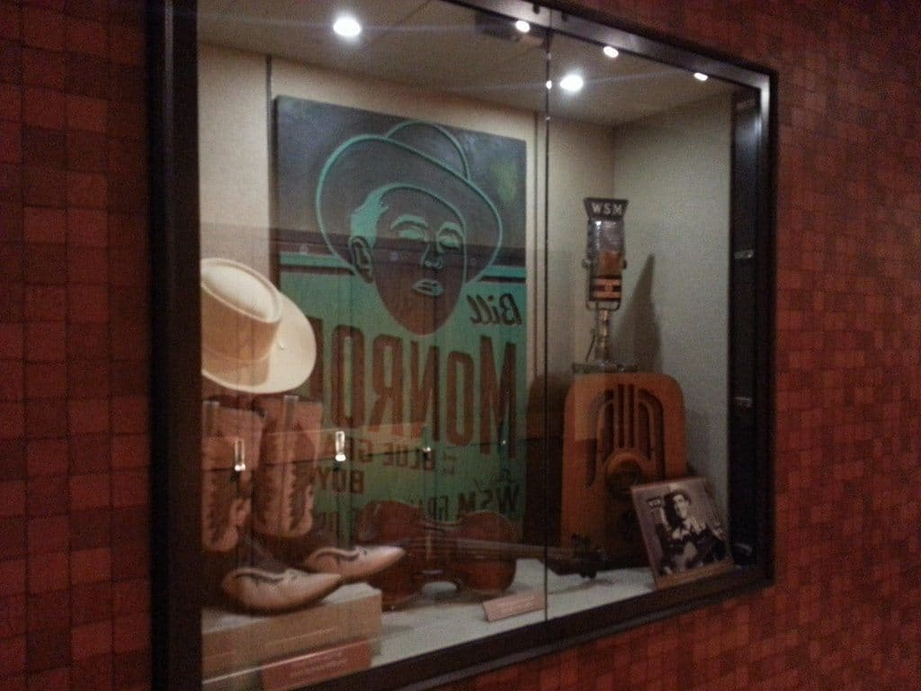Grand Ole Opry Backstage Tour display case