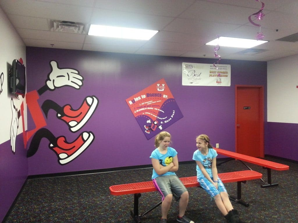 Bounce U - lobby area to take off shoes