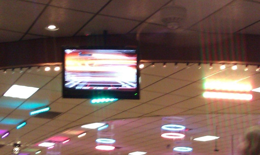 Brentwood Skate Center - TV screens on the ceiling