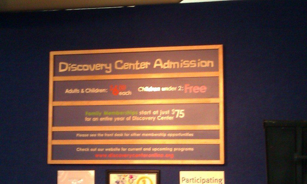 Discovery Center Admission pricing