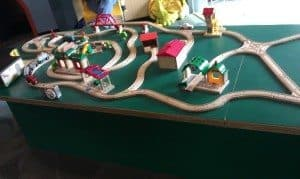Discovery Center model train tracks
