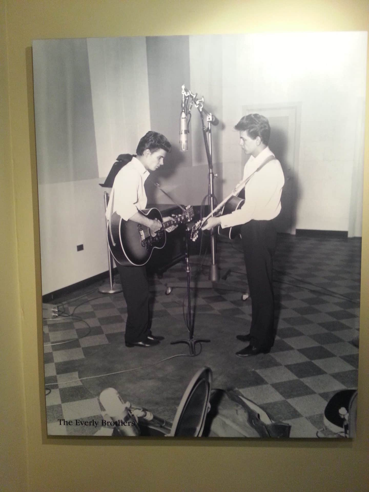 RCA Studio B Tour picture of artists recording in the studio on display