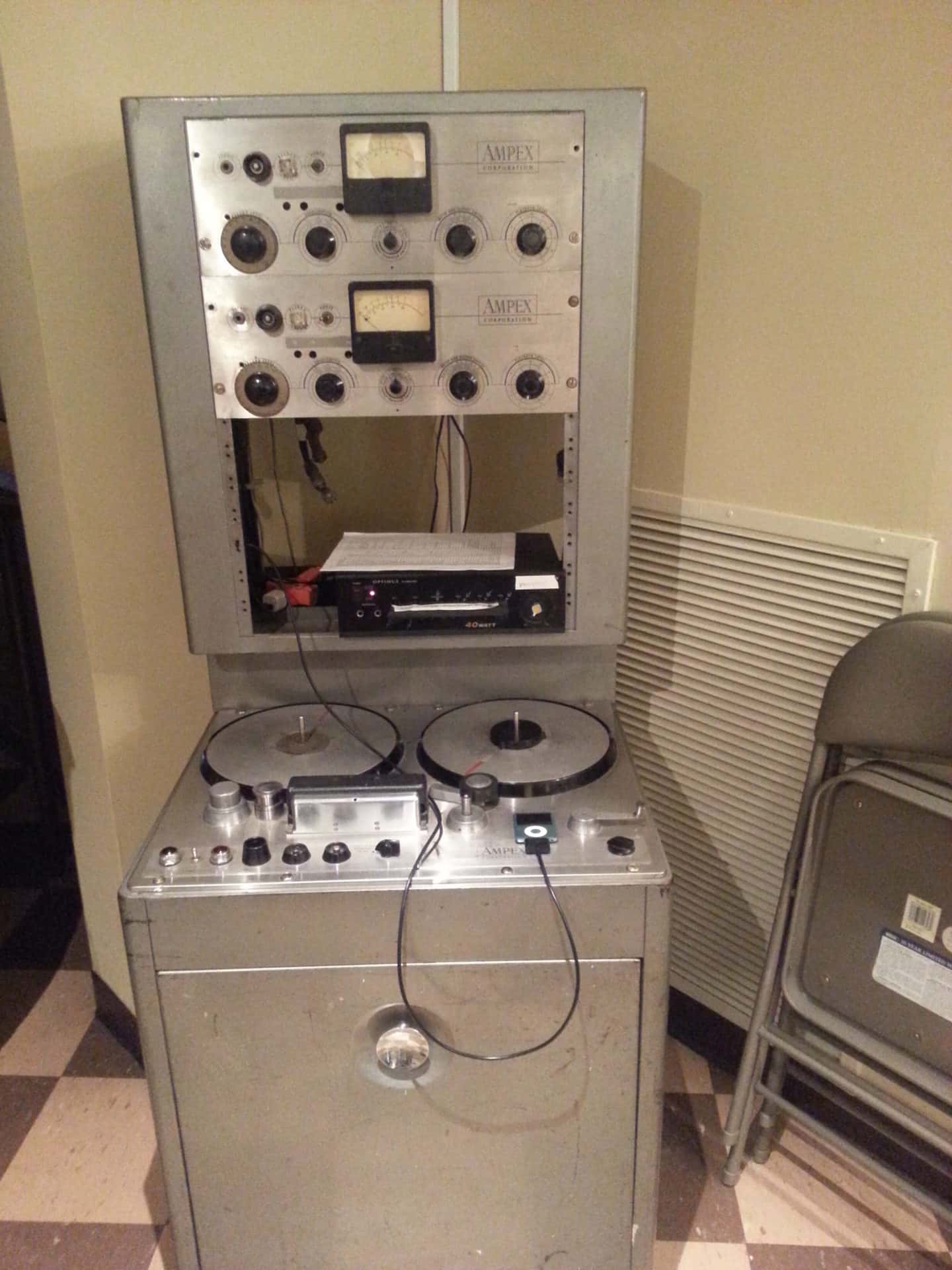 RCA Studio B Tour mixing table