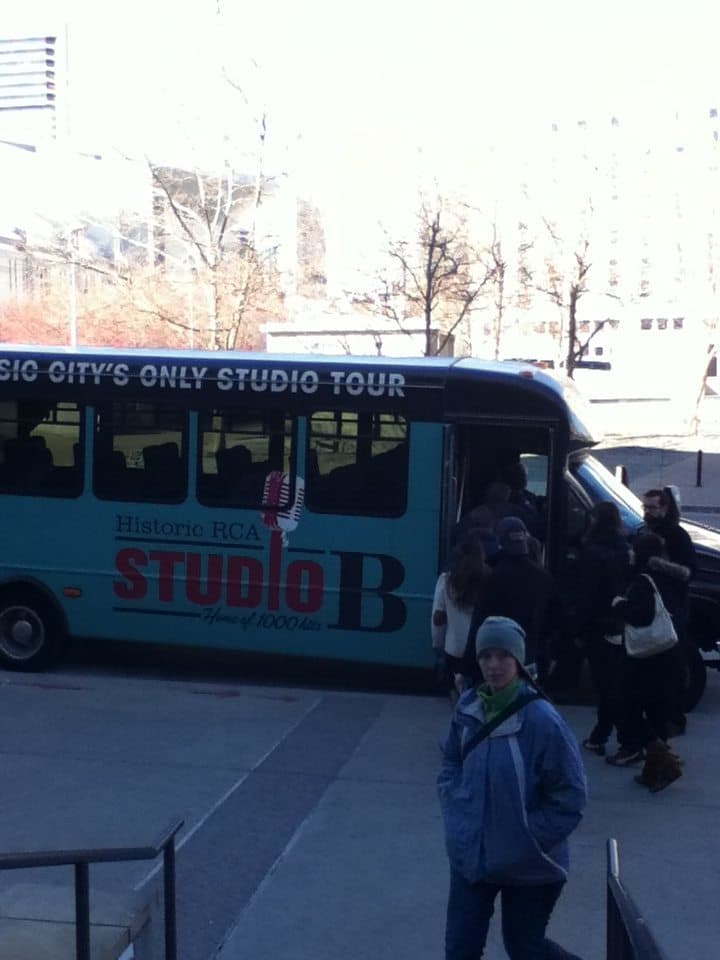 RCA Studio B Tour boarding the shuttle
