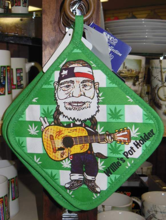 Willie Nelson and Friends Museum - Willie potholder