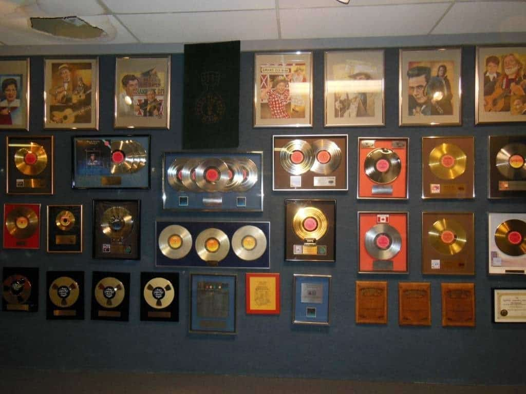 Willie Nelson and Friends Museum - platinum and gold records