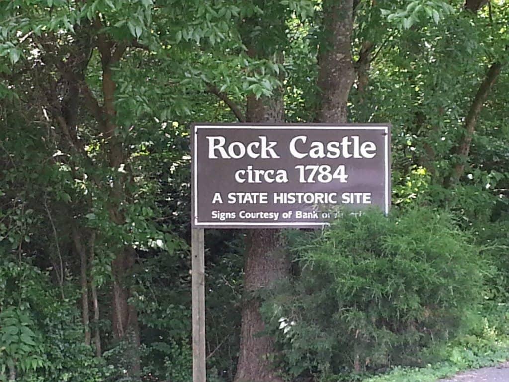 Rock Castle entrance sign