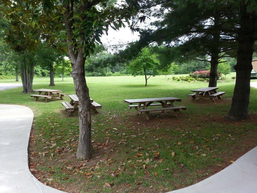 Rock Castle outdoor picnic area