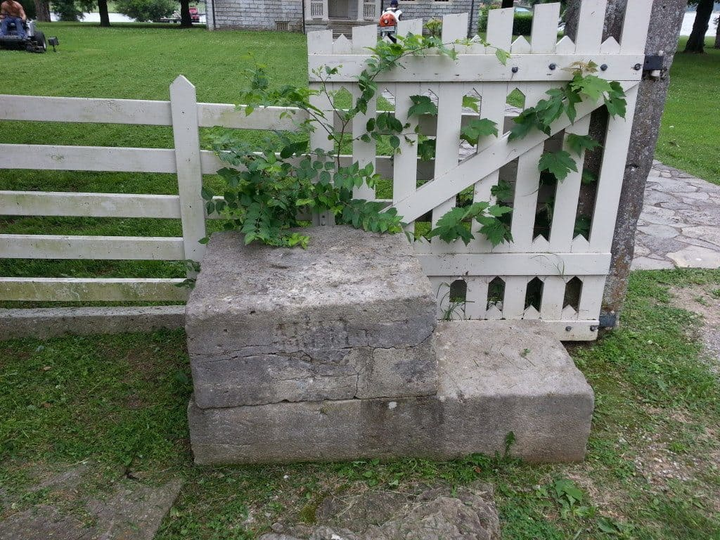 Rock Castle fence around the home
