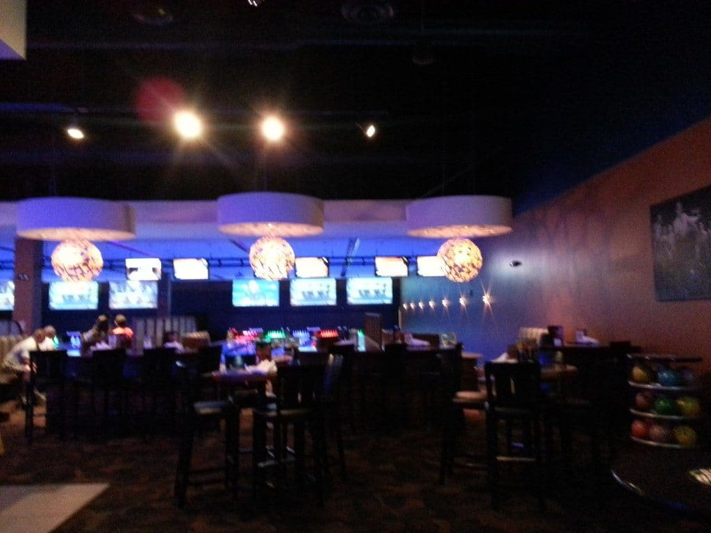Dave and Busters Bowling screens