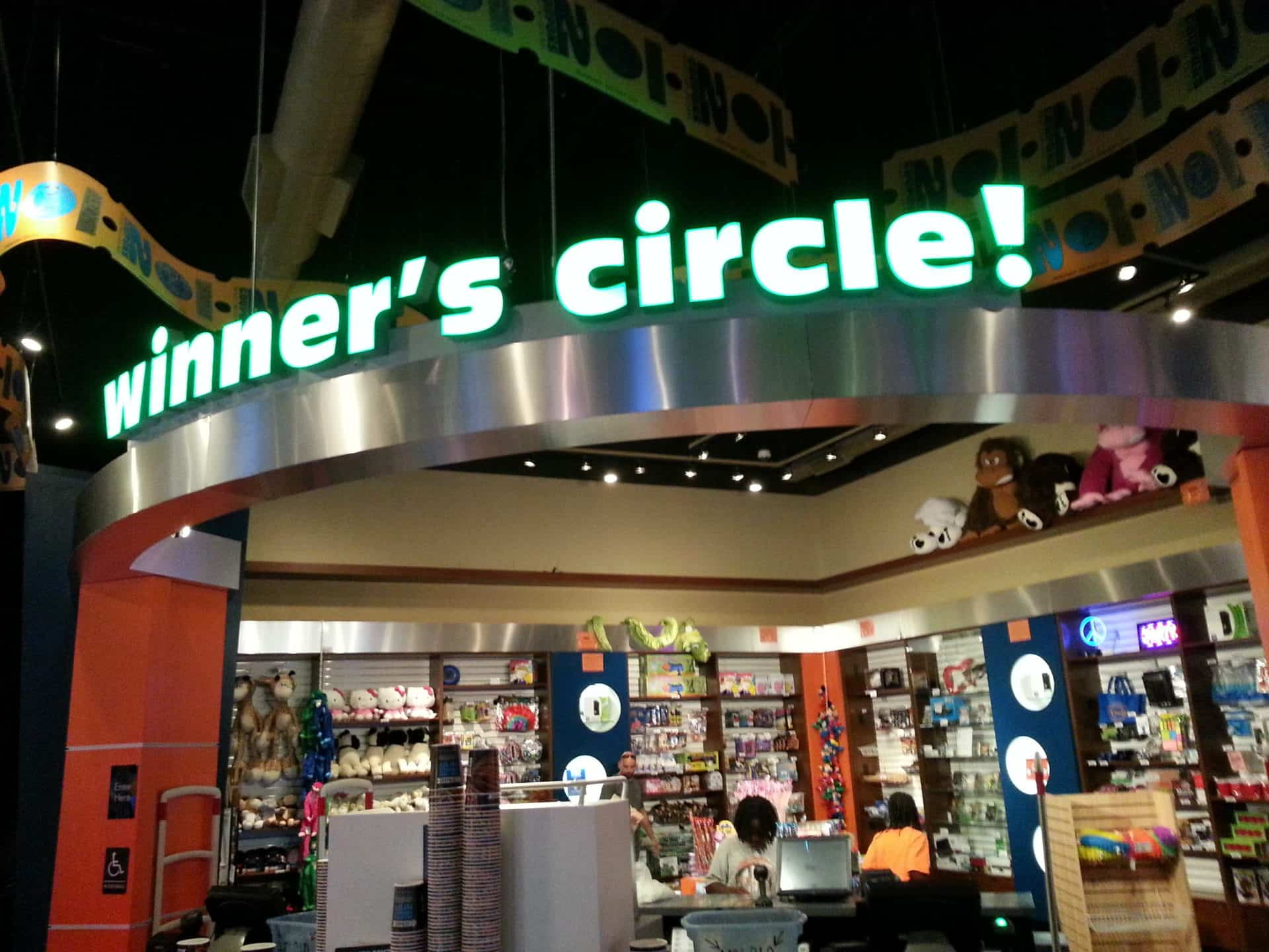 Dave and Busters Winner's Circle