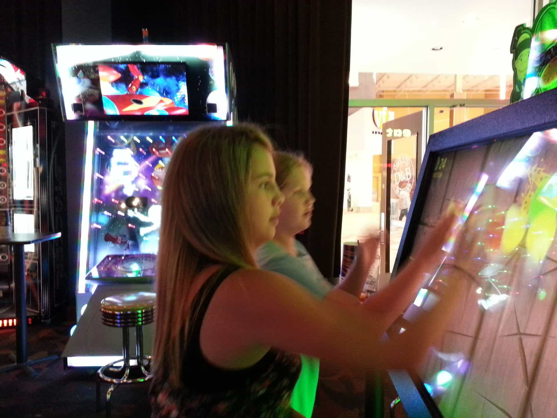 Dave and Busters Playing Games
