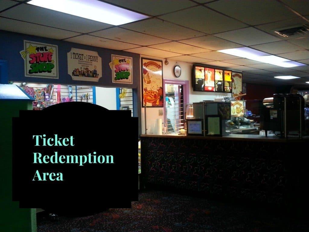 Skate Center West ticket redemption area