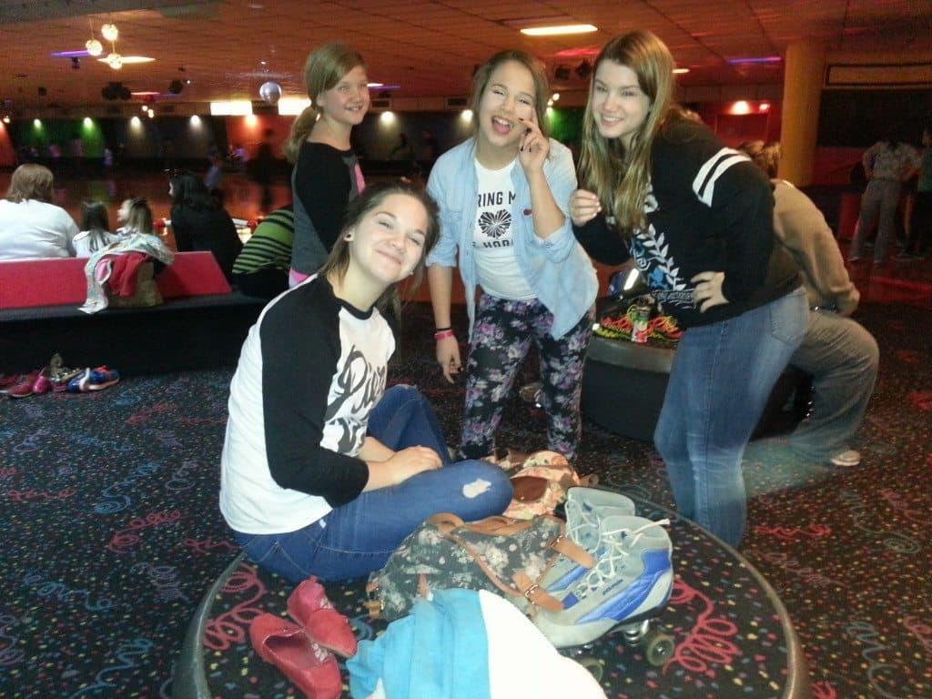 girls at Skate Center West